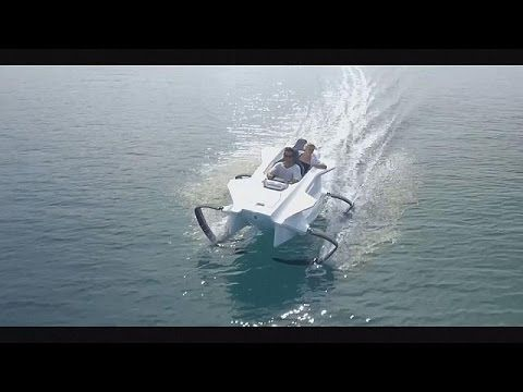 Take a ride in this new eco-friendly electric watercraft - YouTube