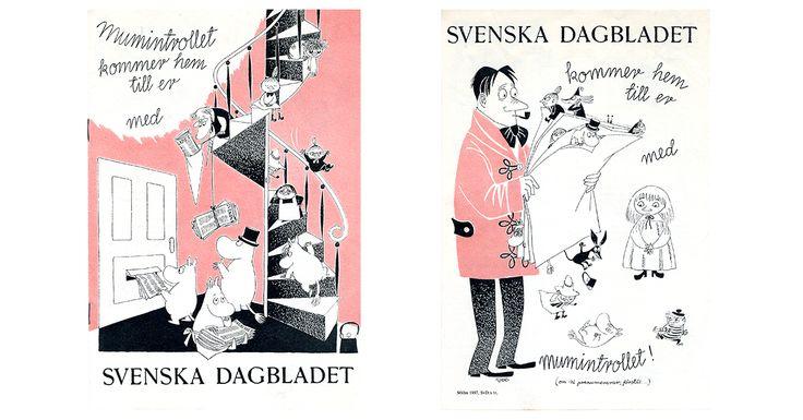 Moomin.com - Moomins and Svenska Dagbladet newspaper in 1950s