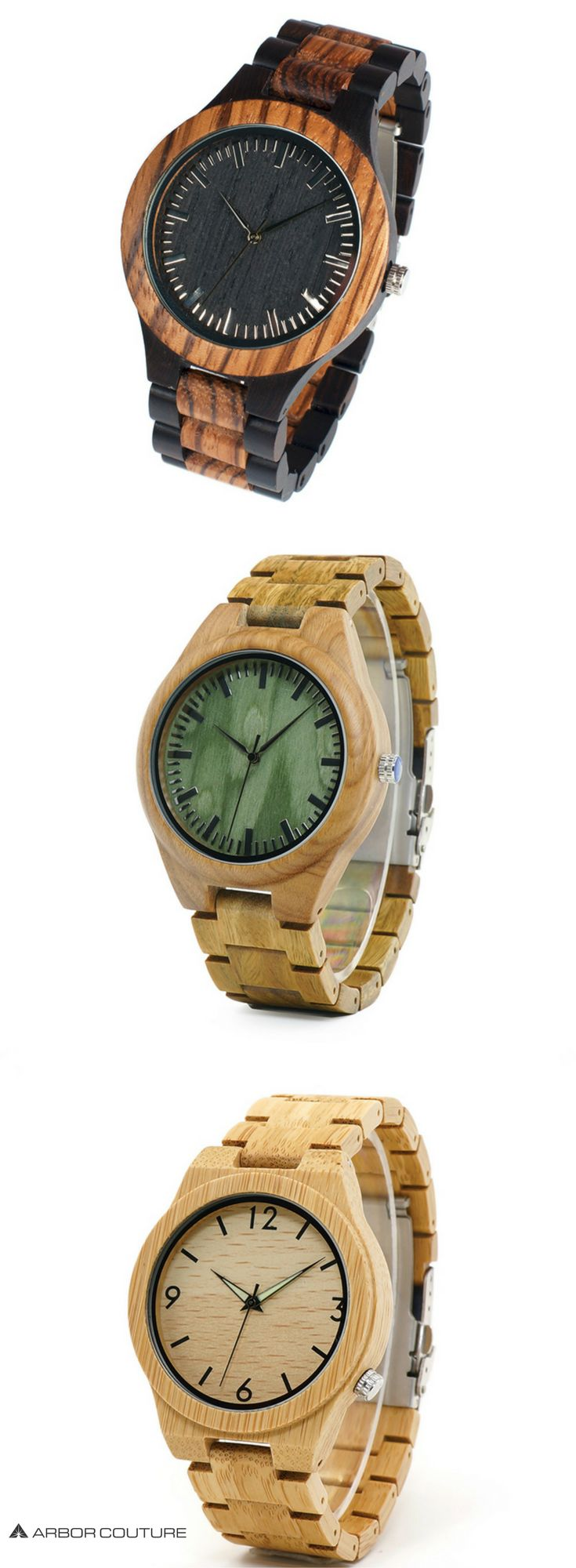 Premium, high-quality men's watches handcrafted from 100% real wood & bamboo | www.arborcouture.com | men's watches under $200, men's watches under $200 style, men's watches under $200 fashion, men's watches under $200 leather, men's watches under $200 pr