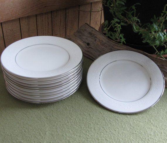 Noritake Marseille Salad Plates 1961 to 1986 White by LazyYVintage