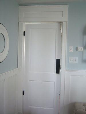 Swinging door in the laundry room