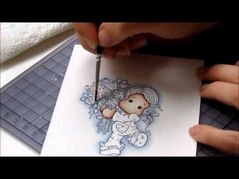 Colouring with Distress Inks - background - new version