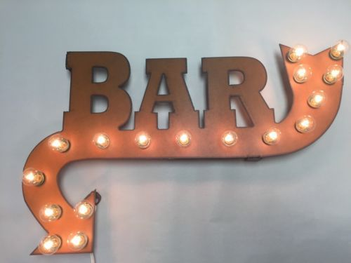 Bar-Lighted-Marquee-Sign-Vintage-Arrow-Rustic-Metal-Wall-Art-Drink-Here