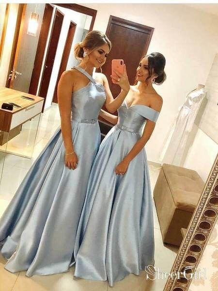 90f1b88410 Halter Plus Size Long Mismatched Bridesmaid Dresses ARD1897-SheerGirl