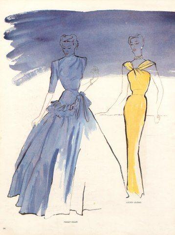 Blossac 1947 Lucien Lelong & Maggy Rouff