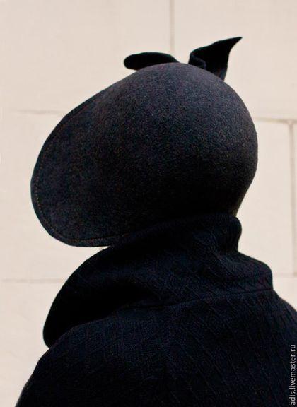 """Шляпы ручной работы. Шляпа фетр """"Цветок Голландии"""". Наталия Эдис. Ярмарка Мастеров. Шляпа молодеж, серая шляпа"""
