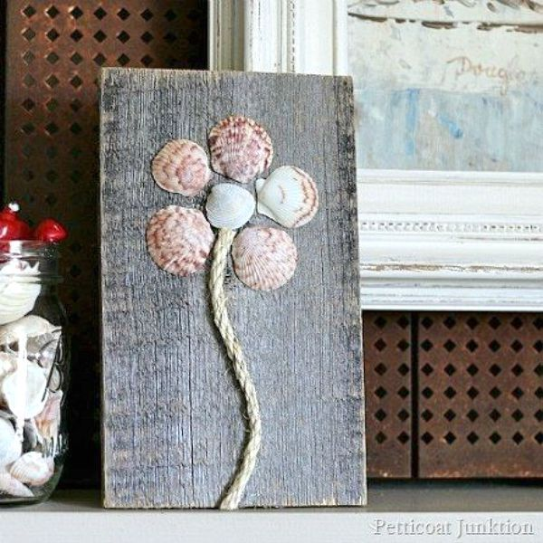 s 11 upcycles so simple you ll wonder why you ve never thought of them, crafts, repurposing upcycling, Add Your Seashell Collection to Some DIY Art