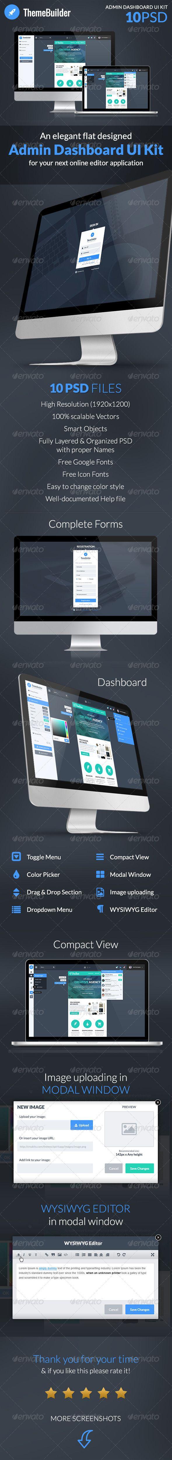 ThemeBuilder - Admin Dashboard UI Kit