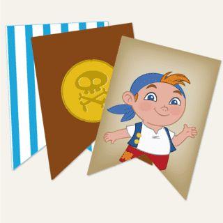 Creá una fiesta de piratas muy original! Kit imprimible Jake y los Piratas en www.cumplekits.com