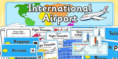 Airport Role Play Pack - Airport, role play, pack, roleplay, holidays, holiday, flight, timetable, airports, plane, jet, arrivals, departure...