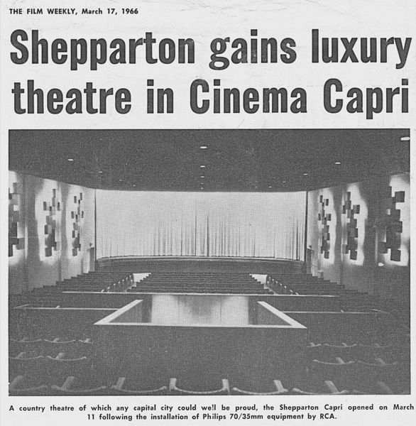 The original Cinema Capri theatre Maude Street Shepparton
