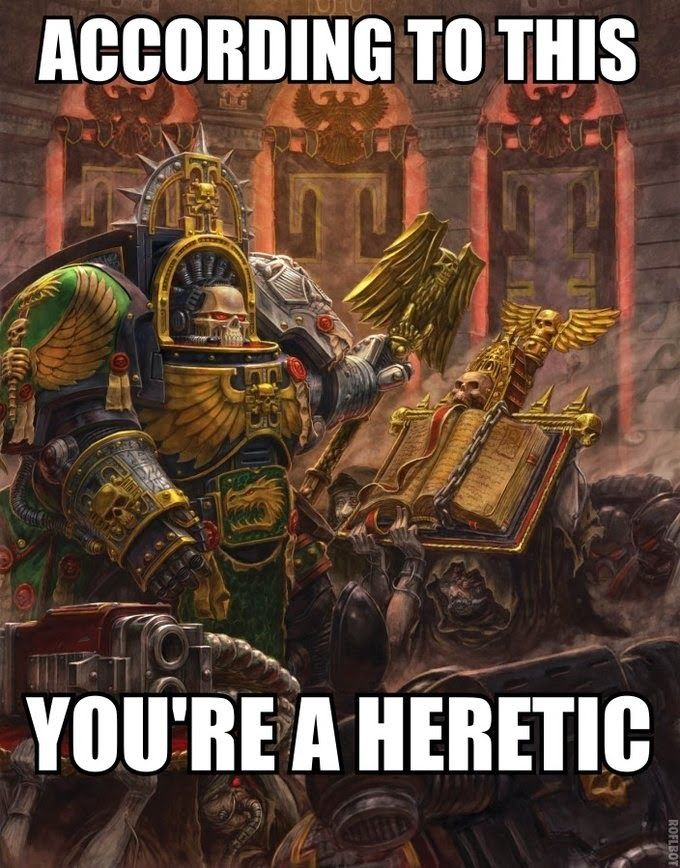 Spikey Bits Warhammer 40k, Fantasy, Conversions and Painted Miniatures: Heretics Beware- Pic of the Day
