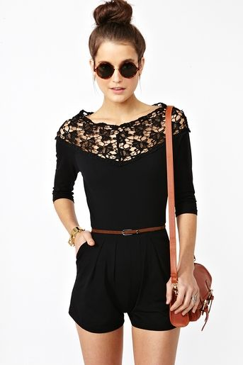 laced romper. LOVE this one!