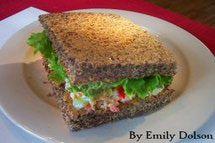 Flax Bread Sandwich