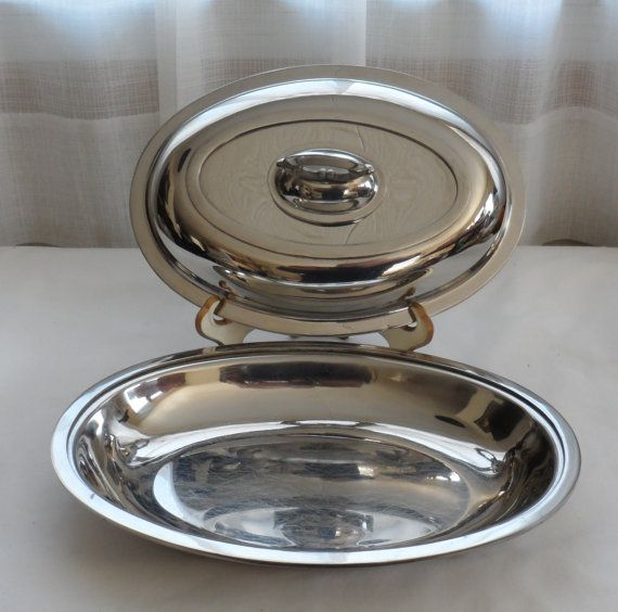VINTAGE 1960s SW 18-8 Stainless Steel Lidded Chafing Dish/Shiny Chrome Looking Covered & 70 best VINTAGE DINER images on Pinterest   Diners Dining sets and ...