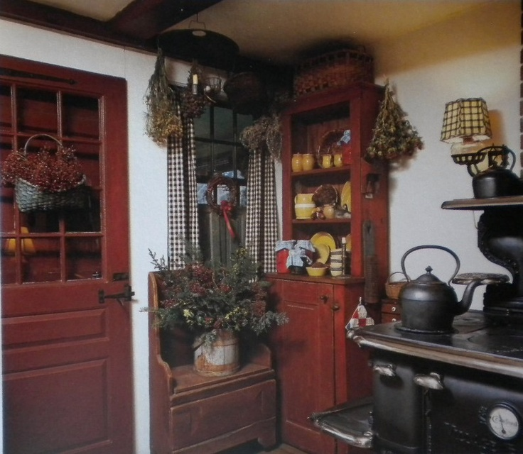 Country Kitchen Christmas Decorations: Early American Decor Inside This