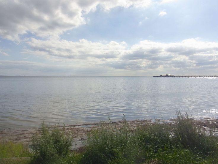 #bjrred #blue #boardwalk #bridge #clouds #cloudy #grass #horisont #horizon #lngbryggan #lomma #long bridge #malmo #moln #molnigt #oresundsbron #seaweed #shore #strand #strandkant #sverige #sweden #vatten #water