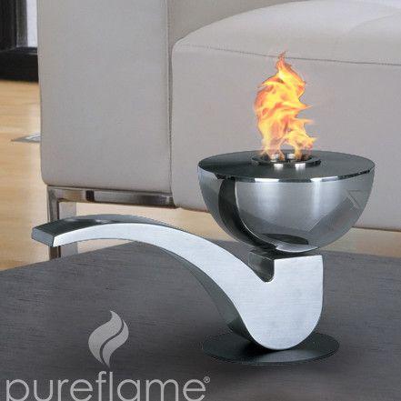 Pureflame Pipe Mobile Fireplace