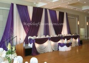 Black And Silver With Purple Wedding Table Decor 300x213 Purple Wedding Cake Table Decorations