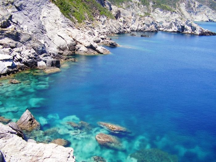 Crystal waters of Skopelos island