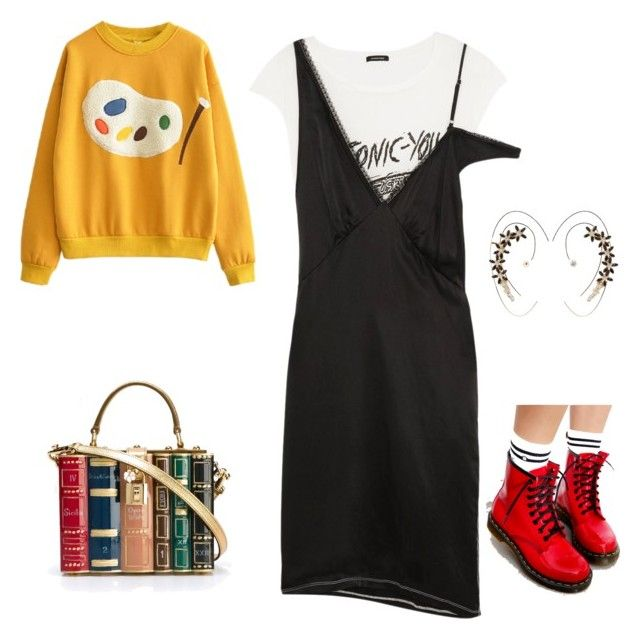 """Friday's night"" by lula-kruta ❤ liked on Polyvore featuring Dolce&Gabbana, R13, Dr. Martens and Charlotte Russe"