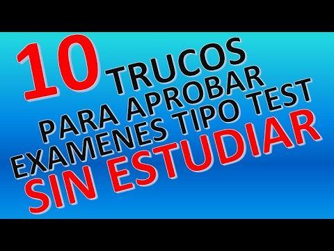 10 TRUCOS PARA APROBAR EXAMENES TIPO TEST SIN ESTUDIAR - YouTube