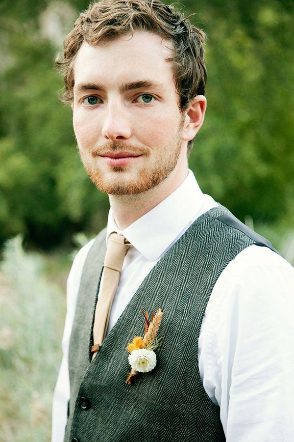 rustic looks for the groom #groomstyle http://www.weddingchicks.com/2013/11/22/van-gogh-inspired-wedding-ideas/