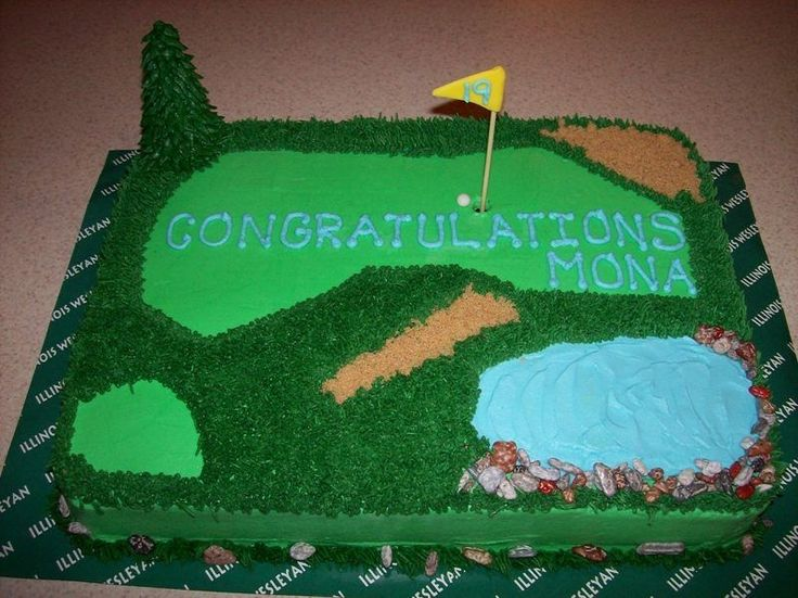 Golf Course Cake Design : Pin by Delana Jones on I like to Party Pinterest