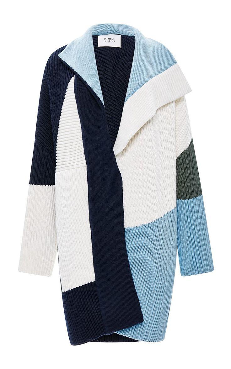 Ribbed Wool Knit Coat by Prabal Gurung - Moda Operandi