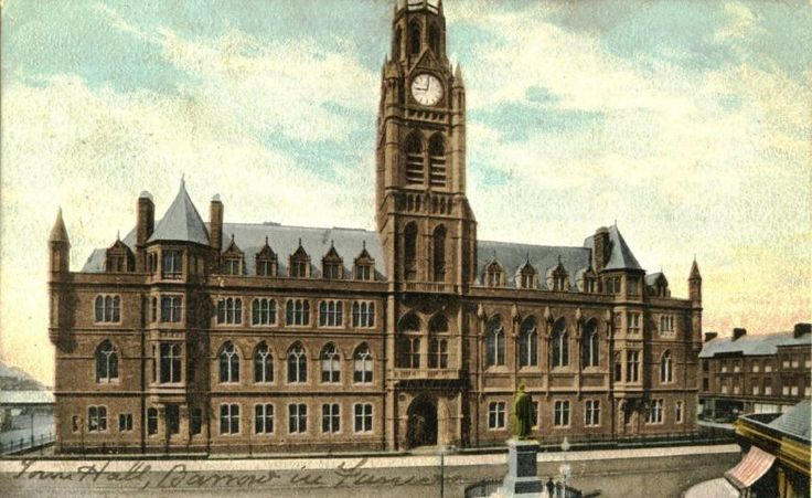 Rising high: An Edwardian postcard view of Barrow Town Hall SUBMITTED hall-jun-2017