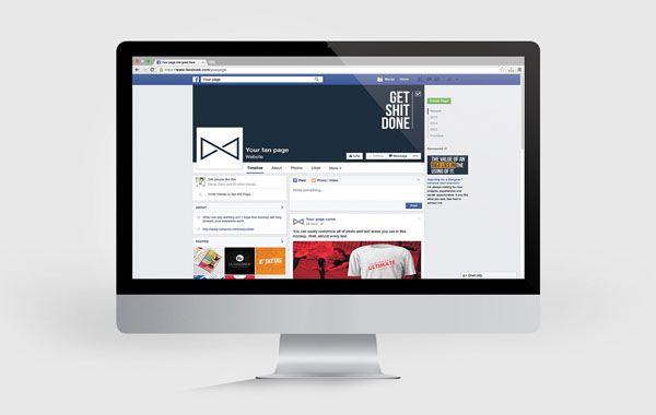 Social Media Mockup 04 Facebook Page Mockup Social Media Mockup Mockup Template Free
