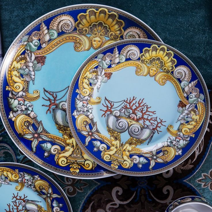 Fine China Dinnerware Blue Dinnerware Plate Medusa Bone China Tableware Fashion Brands Diving Versace & 8 best Luxury bone china dinnerware sets images on Pinterest | Bone ...