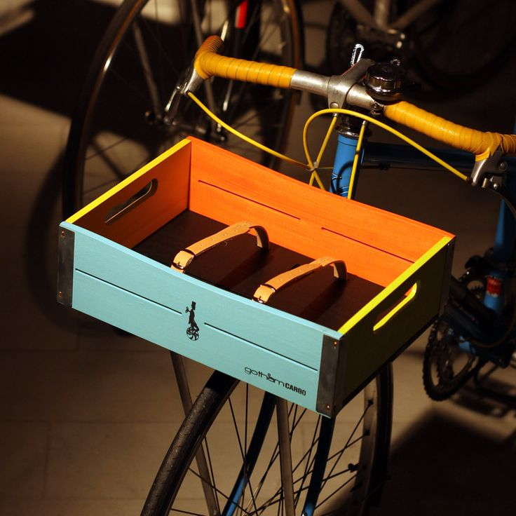 wooden bicycle basket laurel clown by gothamcargo