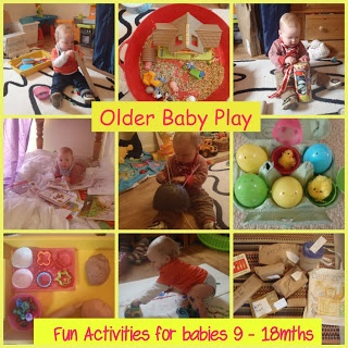 Activities for babies 9 - 18mths