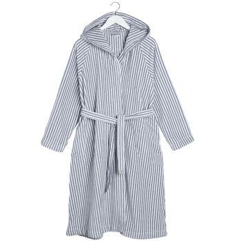 Siro Mari bathrobe, grey/white