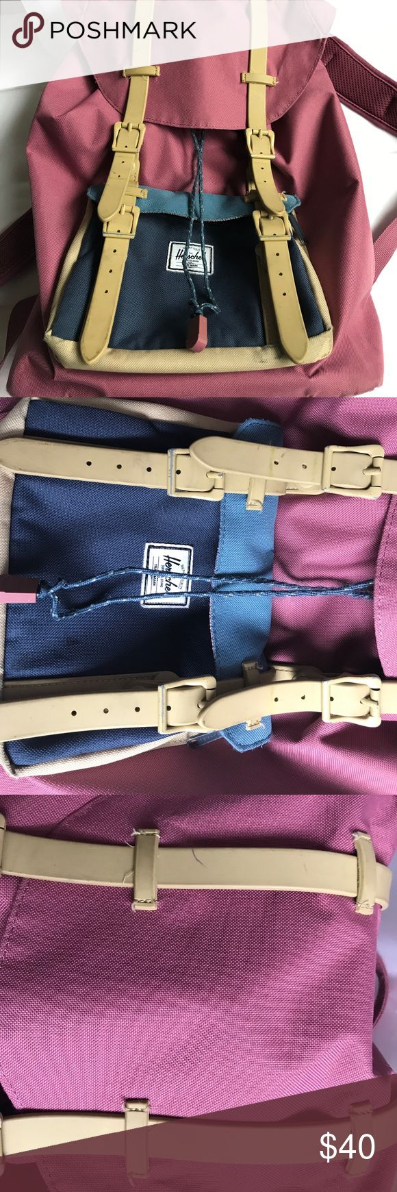 HERSCHEL Backpack It's not in perfect condition (price reflects this). There are some pen/marker marks on it but they're completely hidden when it's closed and snapped. Herschel Supply Company Bags Backpacks