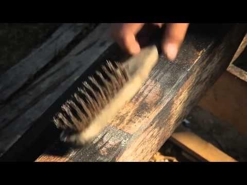 "Japanese technique of preserving/antiquing wood ""Shou-sugi-ban Yakisugi 焼き杉"". - YouTube"