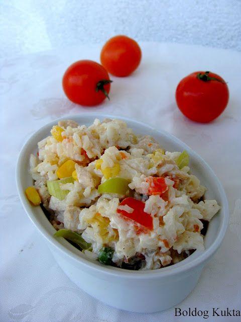 Boldog Kukta: Rizssaláta sok-sok zöldséggel