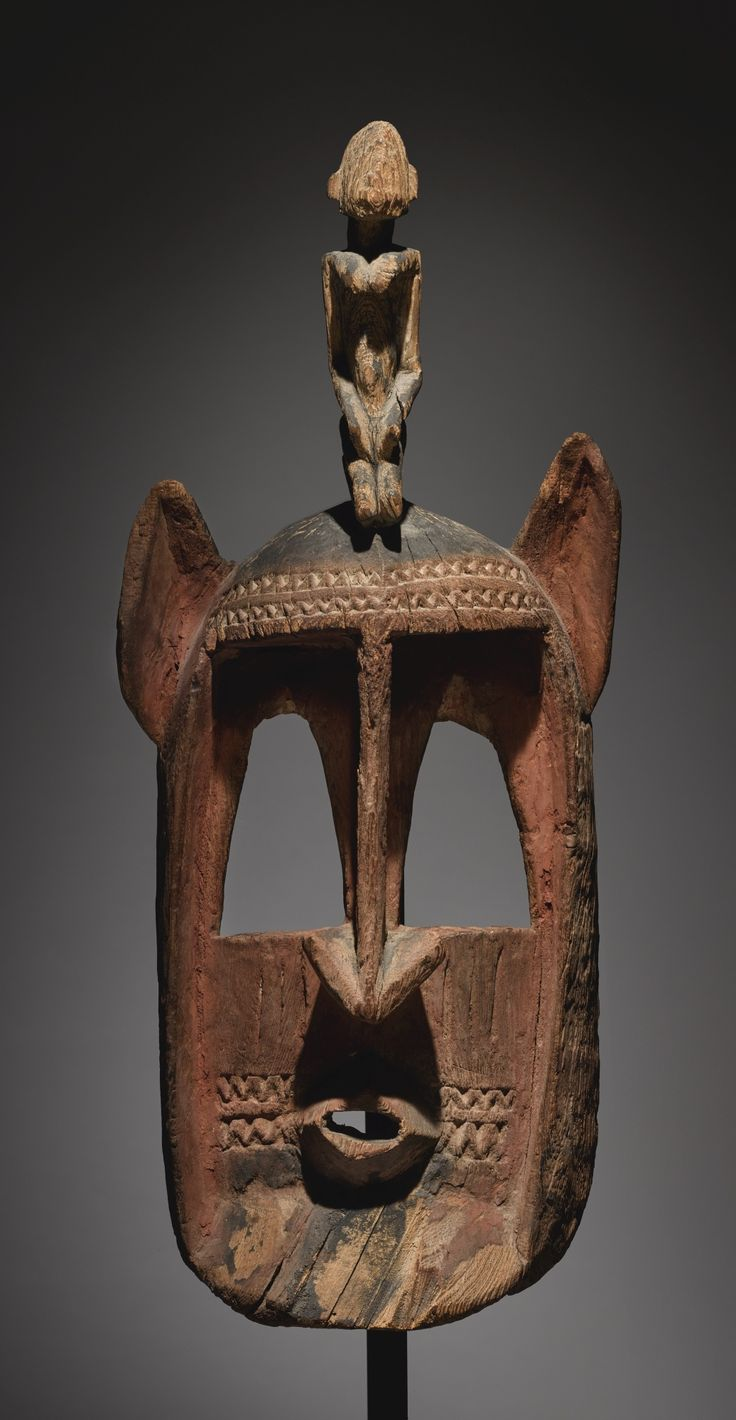 Dogon Mask with Nommo Figure, Mali, c. early 20th century (wood)