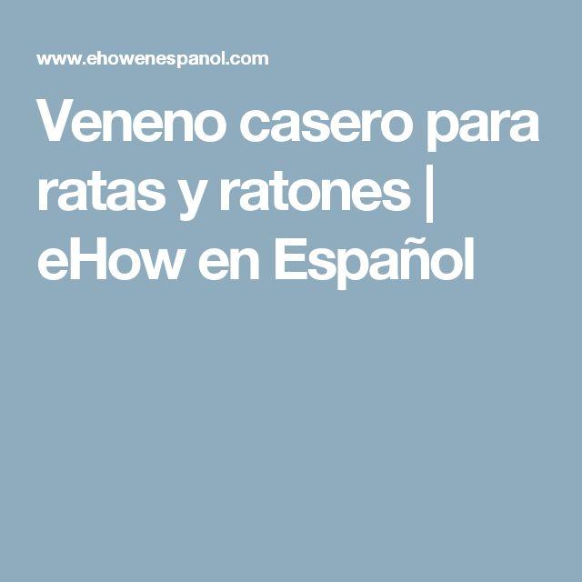 Veneno casero para ratas y ratones   eHow en Español