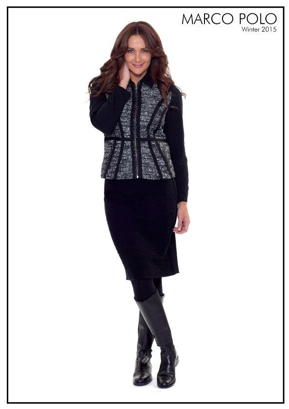 Create chic winter layers with the Melange Contrast Jacket. A long sleeve design, the collared jacket features a zip thru closure, 2 angled front pockets and grosgrain detailing lending itself to sophisticated outerwear. Also available in Woman sizing's exclusively in Myer. Please call 03 9902 5100 to locate your nearest stockist, and shop online for other stunning Marco jackets at http://www.marcopolo.net.au/ (Style Number: YTMW56006)