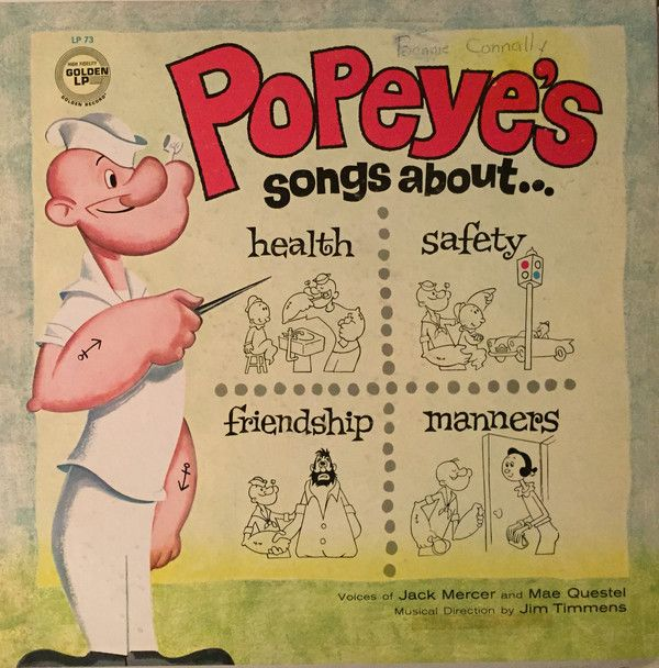 Popeye The Sailor Man - Popeye's Songs About...Health, Safety, Friendship, Manners (Vinyl, LP, Album) at Discogs