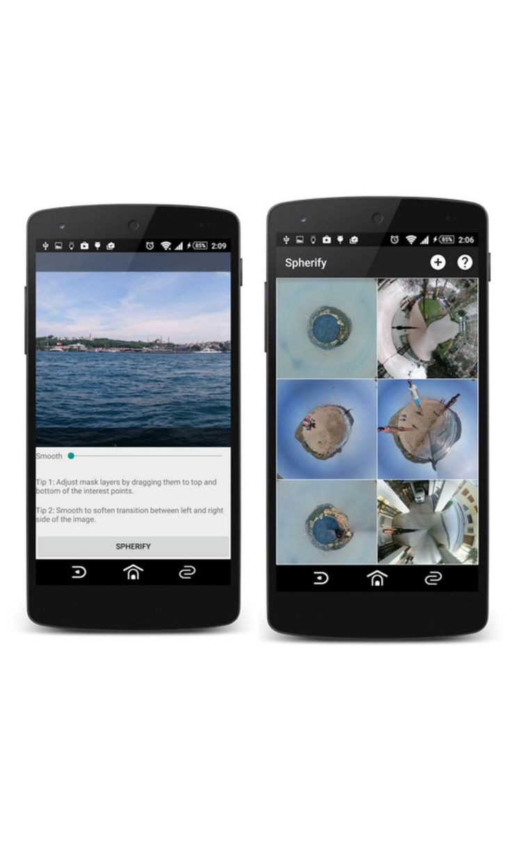Spherify is a fun photo app that turns your 360-photos and panoramas into into mini planet-like images