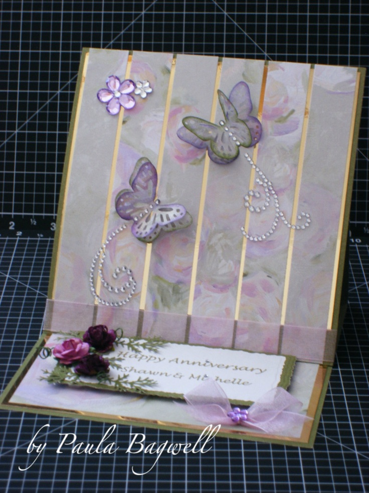 Easel Card - interesting background - make it stretch a little further
