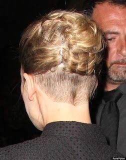 Woman Nape: Rosamund Pike Shaved Nape Undercut coiffure