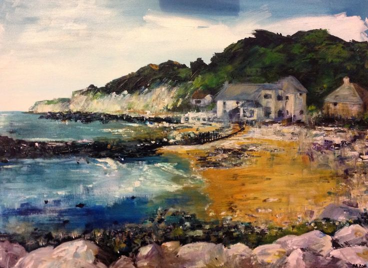 Acrylic on canvas, Steep Hill Cove by Amy Routledge Art