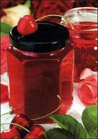 Džem z růží a třešní