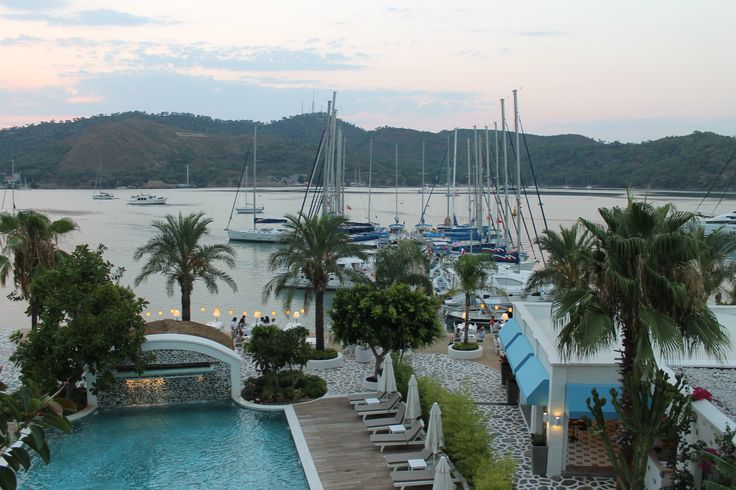 View from the balcony at the Yacht Classic Hotel in Fethiye Turkey | pic from hookedonsharing.com