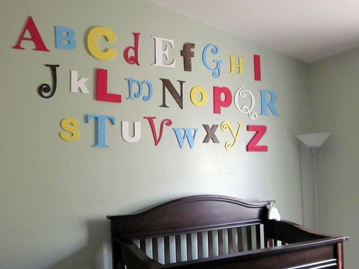 Customer painted and stained the letters. Used different fonts from our Alphabet Set.  craftcuts.com said to be cheaper