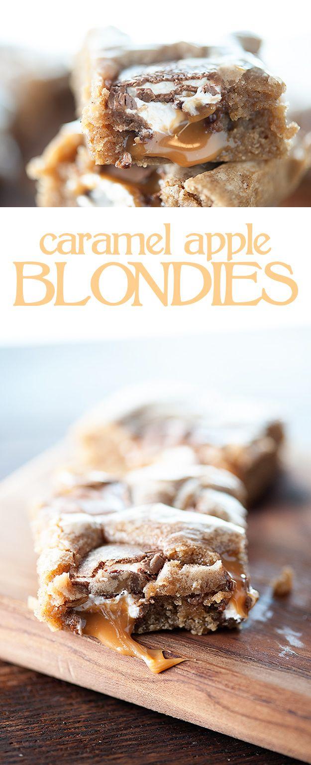 Caramel Apple Blondies Recipe...the BEST blondie base I've tried!